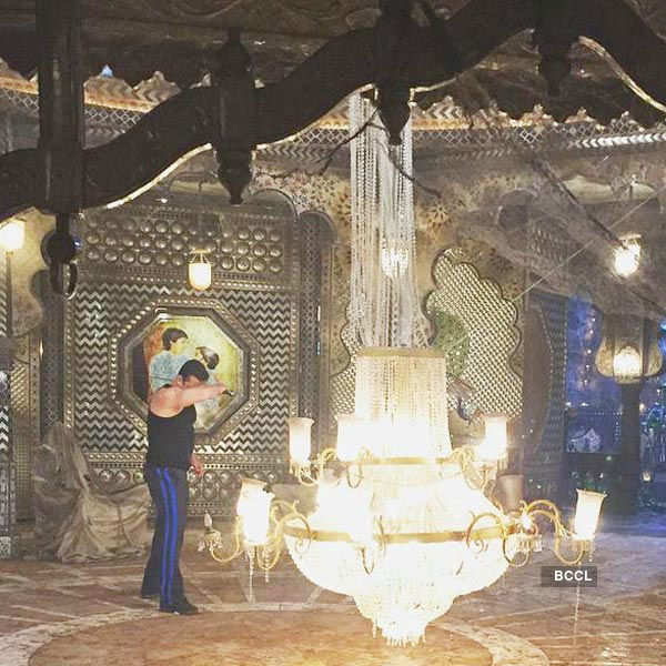 Salman Khan on the sets of Bollywood movie