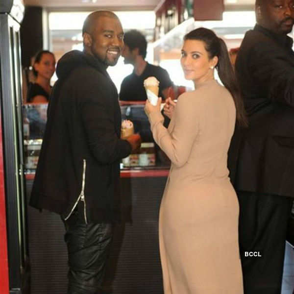 Kim Kardashian and Kanye West were spotted