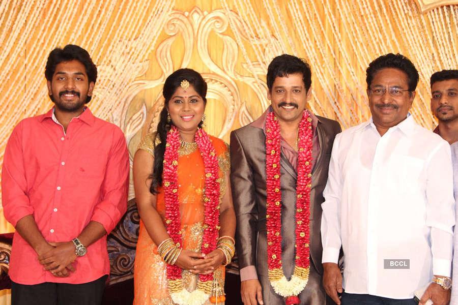 Celebs @ Vidharth, Gayathri's wedding reception