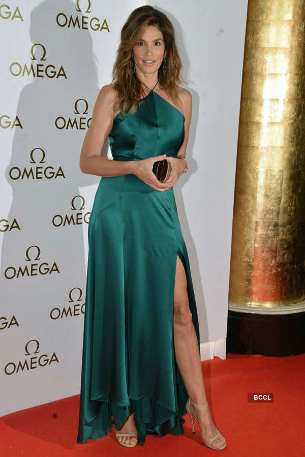 Cindy Crawford @ Omega Constellation Pluma collection party