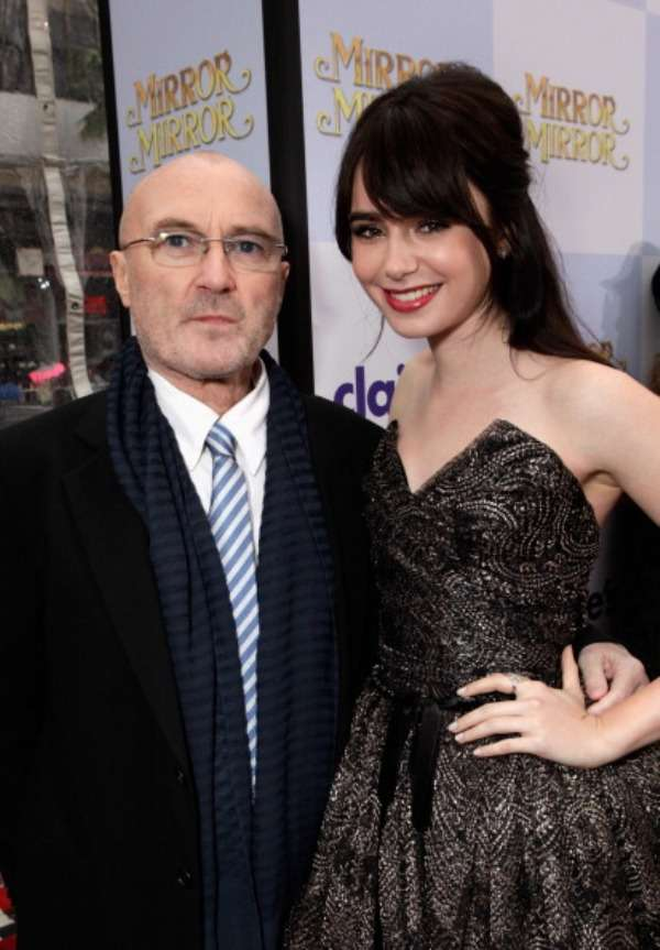 In The Air Tonight Phil Collins let her daughter Lily Collins chose the career lane all by herself