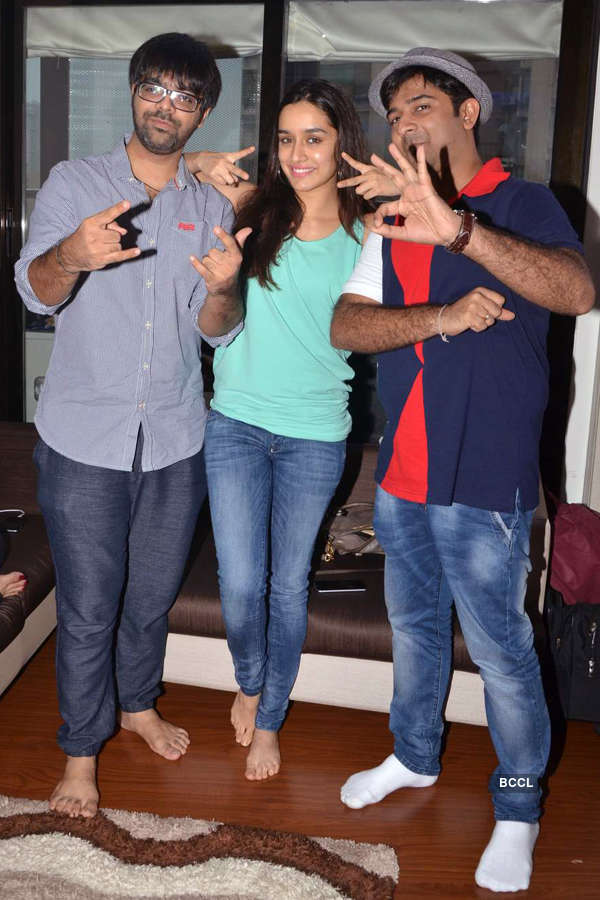 Shraddha in recording studio