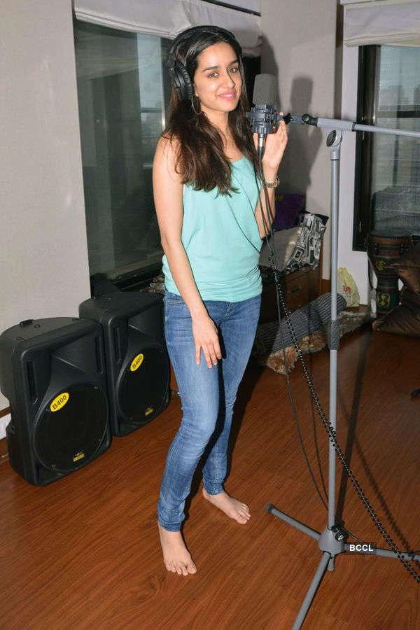 Shraddha in recording studio
