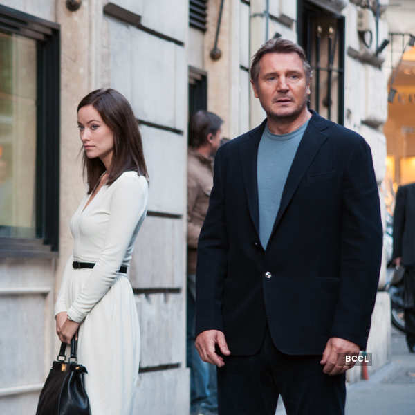 Liam Neeson and 29-year-old Olivia Wilde were the odd pairs
