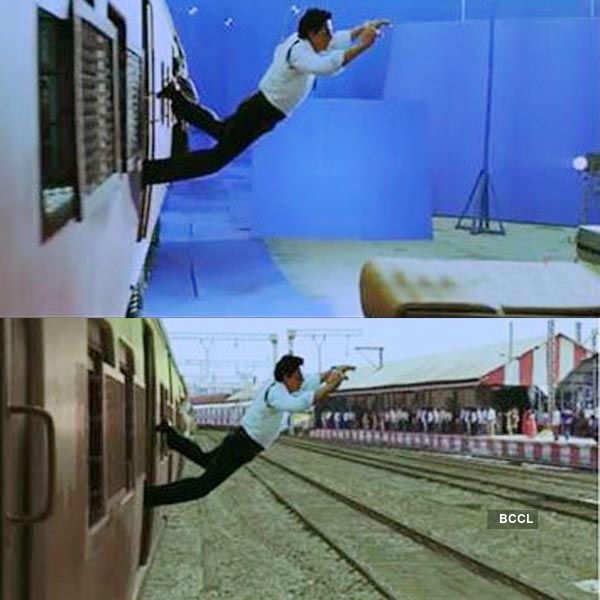 Shah Rukh Khan performed some death defying stunts