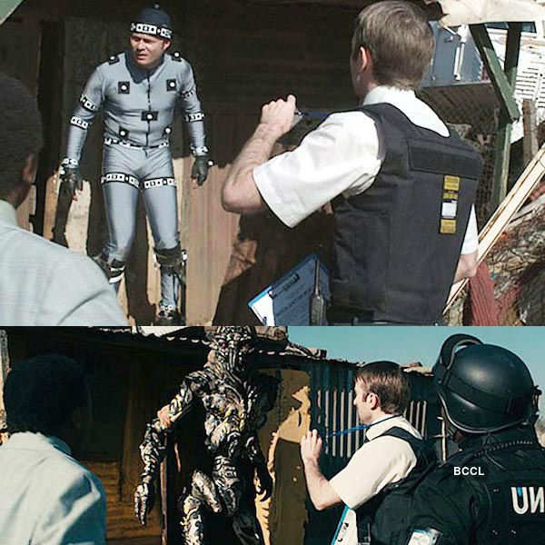 District 9 had some scenes filmed with the help of visual effects