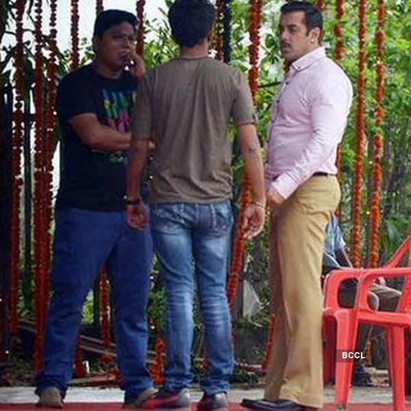 Salman Khan on the sets