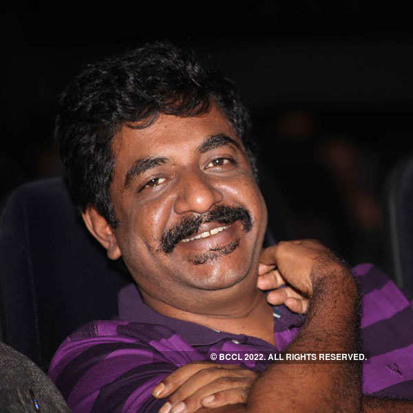 Sathish Neenasam at the audio launch of Rocket in Bengaluru