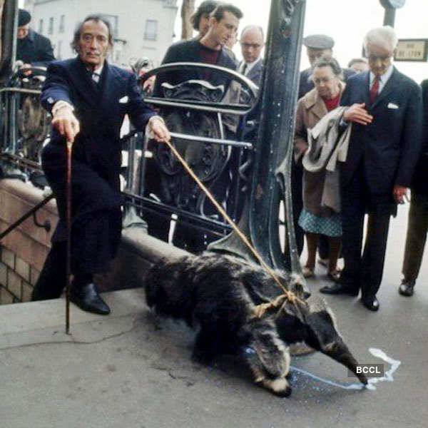 Renowned painter Salvador Dali had a huge love for his pet anteater