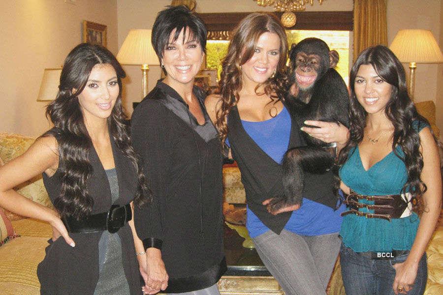 Kardashian family owns a pet chimpanzee