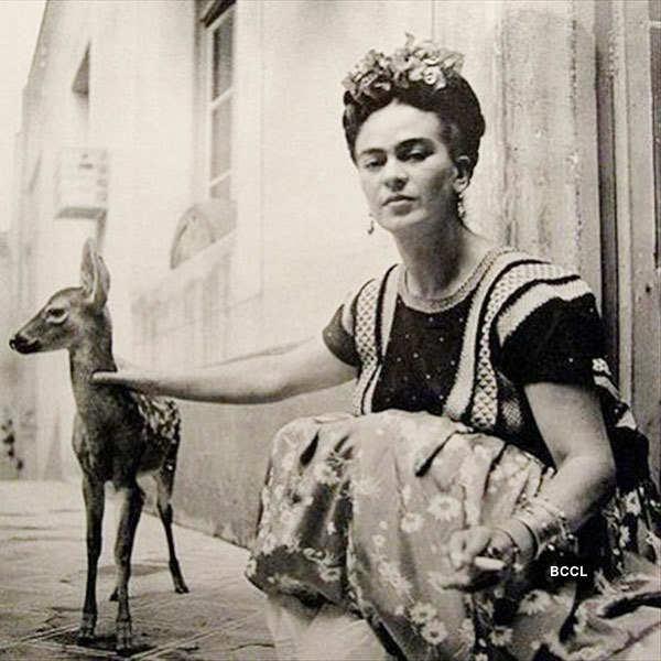 Artist Frida Kahlo kept pet deer named Granizo