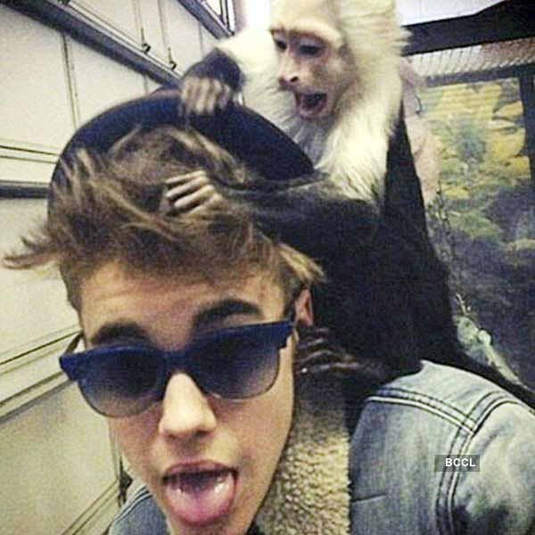 Singer Justin Bieber has Capuchin monkey