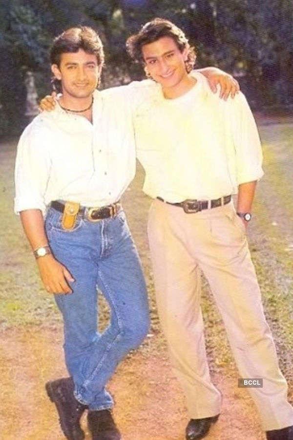 Aamir Khan, Saif Ali Khan in their younger days