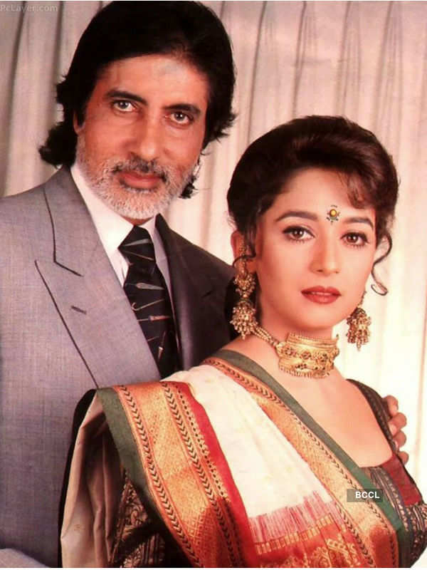 Check out Amitabh Bachchan with Madhuri Dixit.