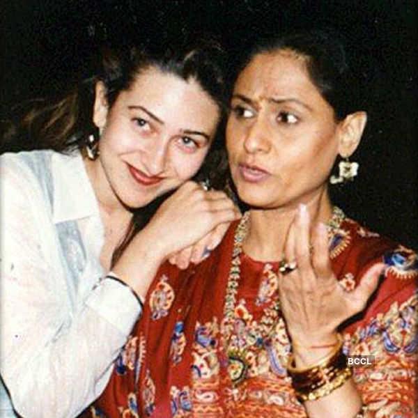 Karisma Kapoor poses with Jaya Bachchan