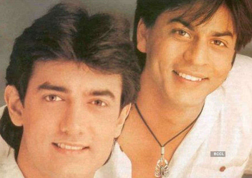 Aamir Khan and Shah Rukh Khan are all smiles