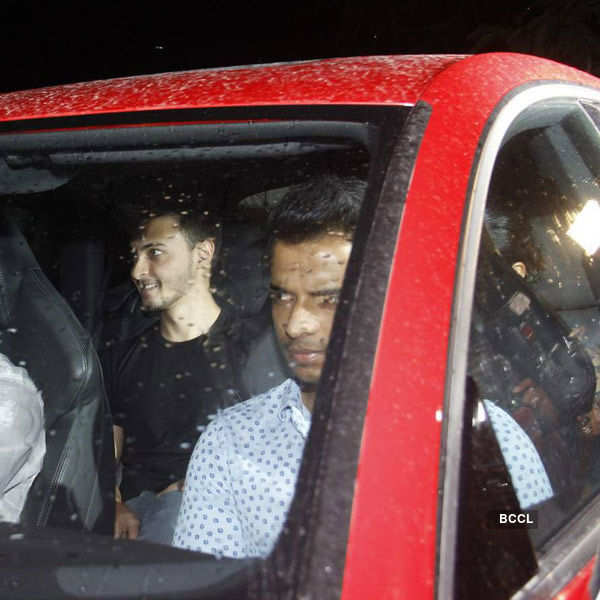 Aayush Sharma arrives for the birthday party of Priyanka Chopra