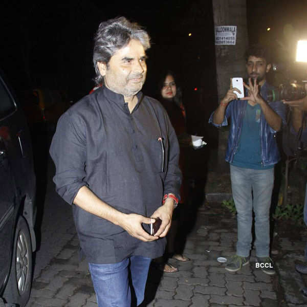 Vishal Bhardwaj arrives for the birthday party of Priyanka Chopra