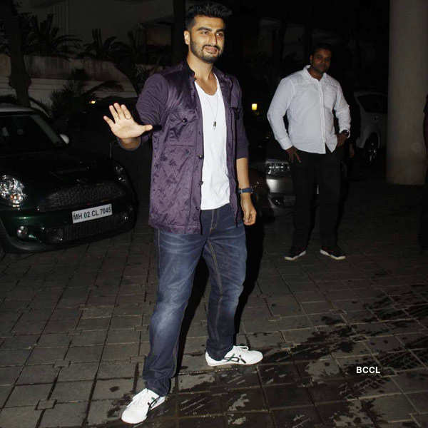 Arjun Kapoor gestures during the birthday party