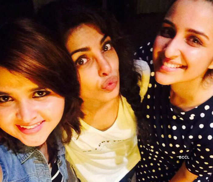 Parineeti Chopra with Priyanka Chopra during her birthday party