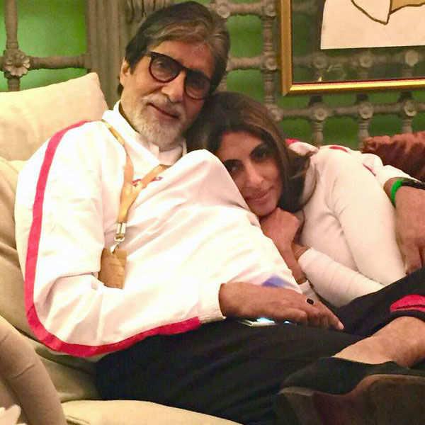 Amitabh Bachchan with daughter Shweta Bachchan Nanda