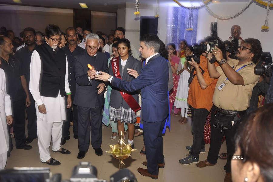 Amitabh @ school inauguration