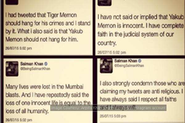 Salman Khan comes out in support of Yakub Memon