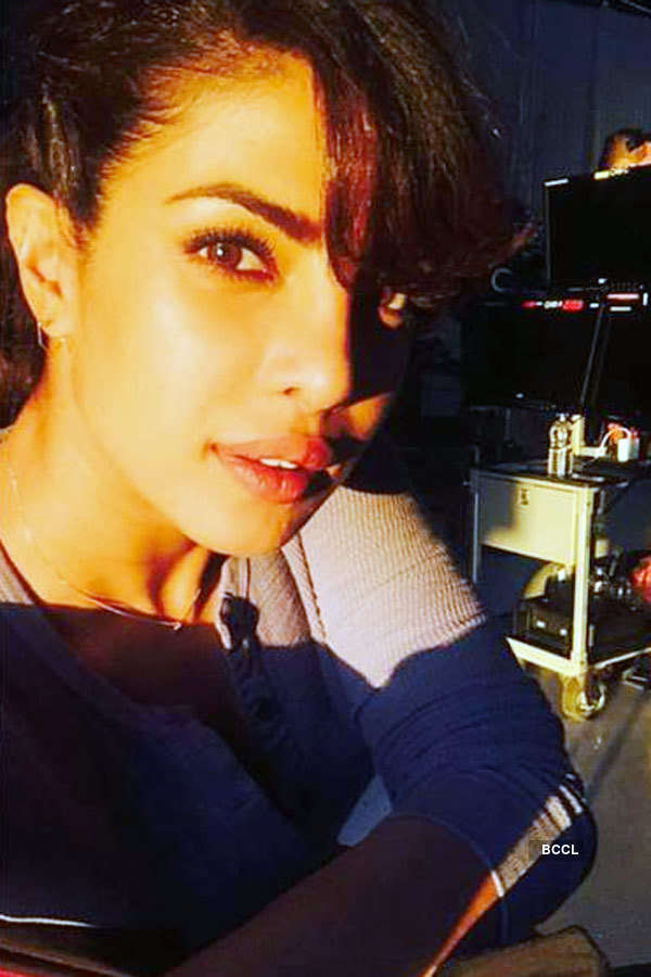 Priyanka Chopra on the sets of American thriller TV series