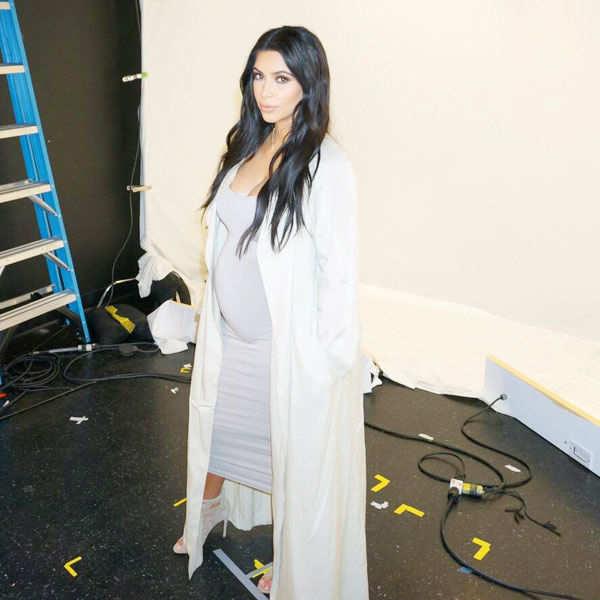 Pregnant Kim Kardashian West