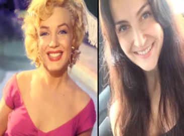 Elli Avram turns Marilyn Monroe!