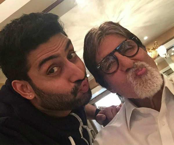 Abhishek Bachchan and Amitabh Bachchan share a candid photo