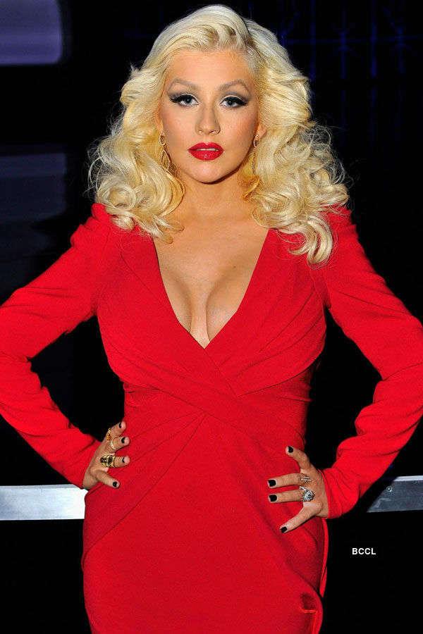 American singer Christina Aguilera