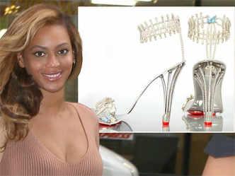 Beyonce splashes out on £200000 diamond stilettos