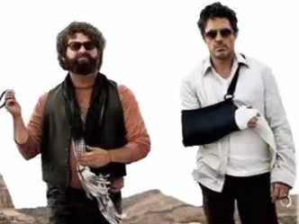 Robert Downey Jr. and Zach Galifianakis' funny Due Date interview