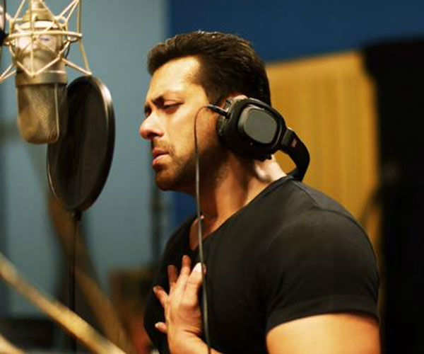 Salman Khan during the recording