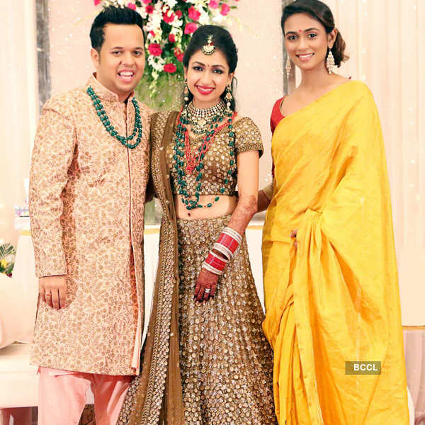 Celebs @ Luv Israni's wedding reception