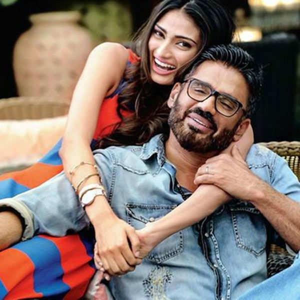 Athiya Shetty poses with father Sunil Shetty
