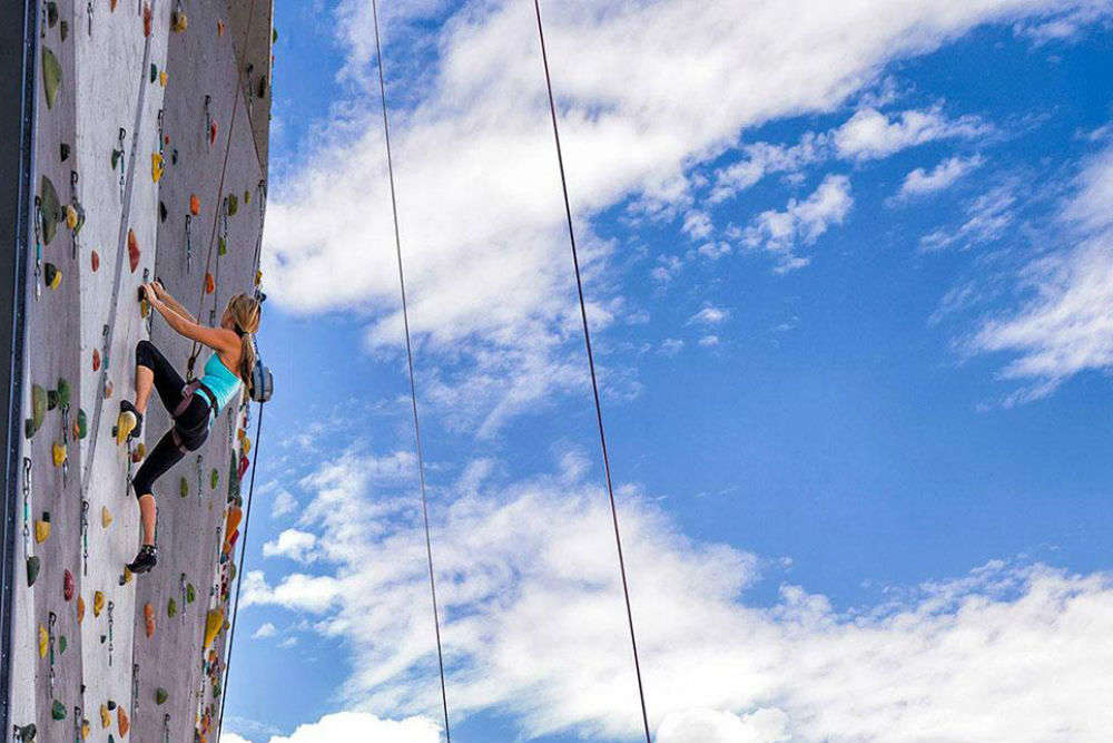 Climb the world's tallest climbing wall in Reno