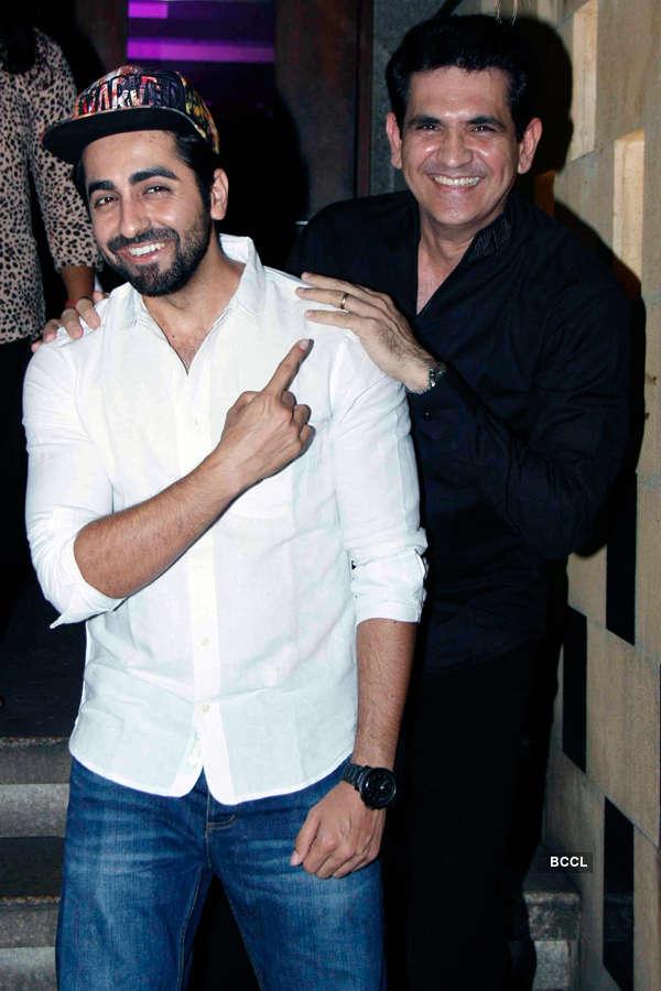 Ayushmann Khurrana and Omung Kumar during Smita Thackeray's birthday party