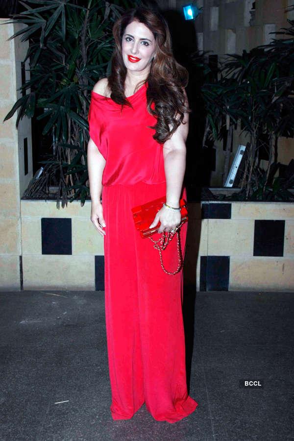Pria Kataria Puri during Smita Thackeray's birthday party