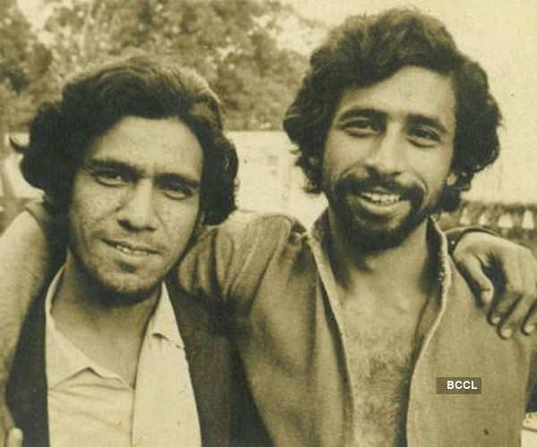 Rare pic of Om Puri and Naseeruddin Shah