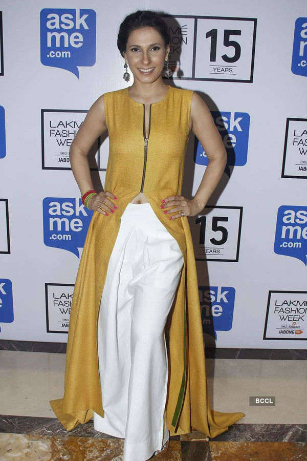 Ramona during the Lakme Fashion