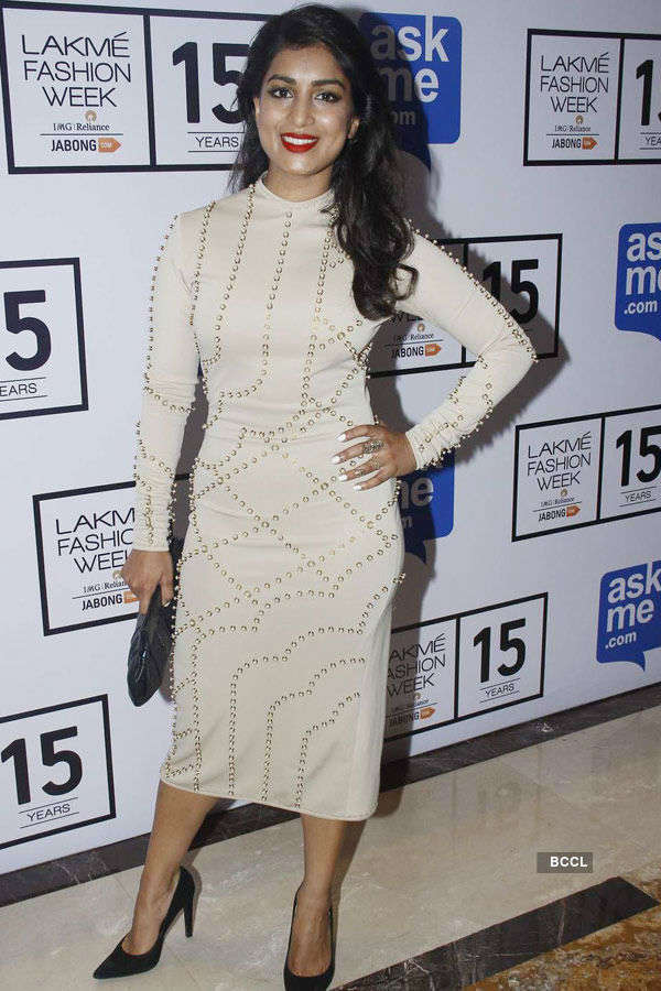 Pallavi Sharda during the Lakme Fashion