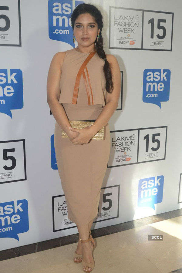 Bhumi Pednekar during the Lakme Fashion