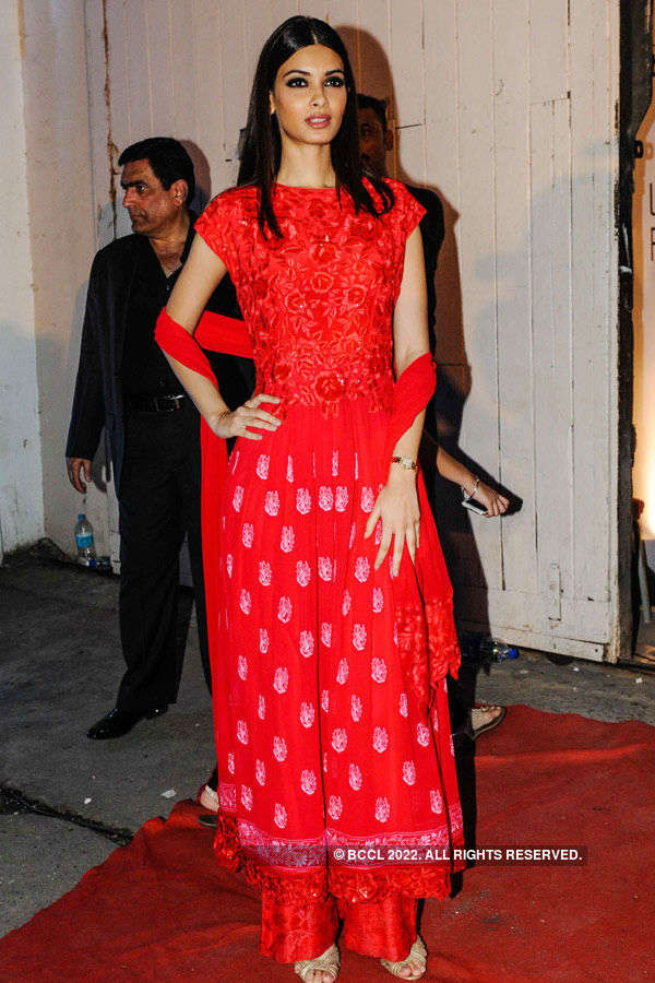Diana Penty looks elegant in red