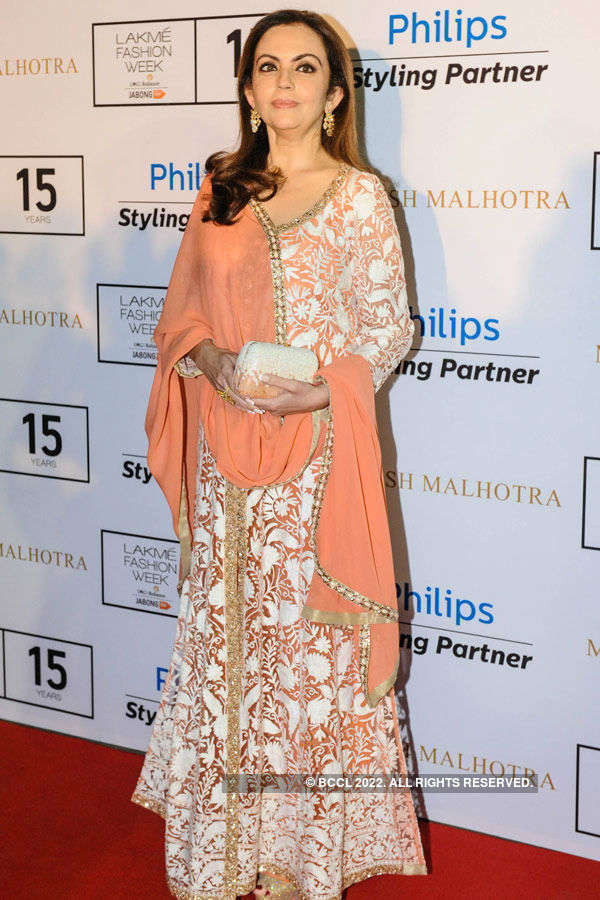 Nita Ambani during the Lakme Fashio