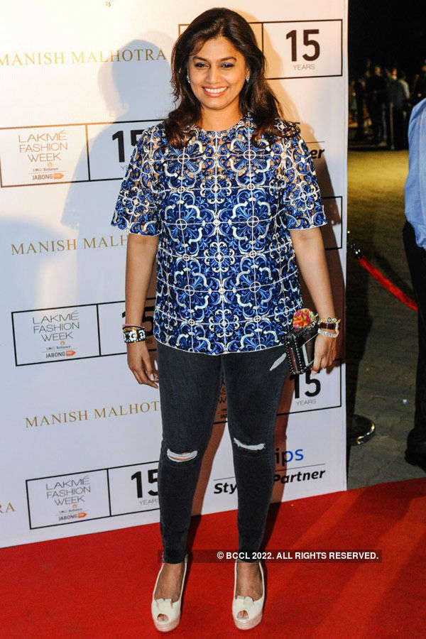 Pinky Reddy during the Lakme Fashion