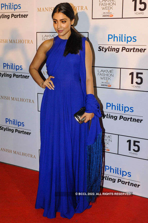 Shriya Saran poses during the Lakme Fashion