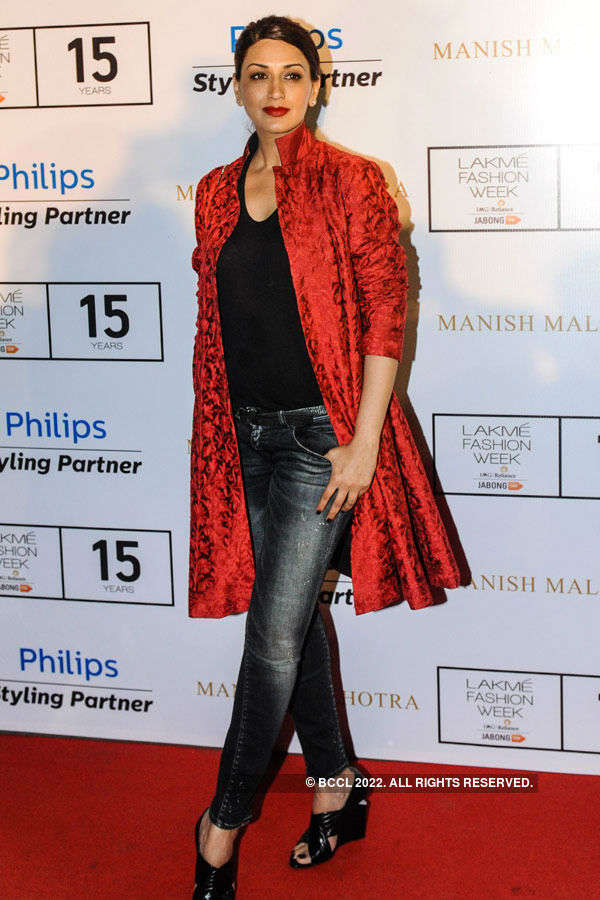 Sonali Bendre during the Lakme Fashion