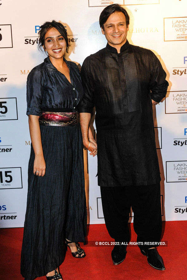 Vivek Oberoi with wife Priyanka Alva